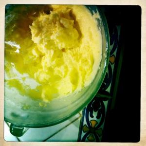 Lemon basil ice cream