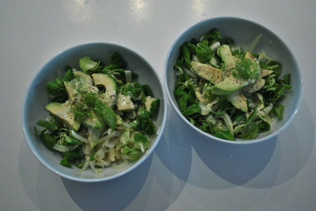 Mâche salad for two