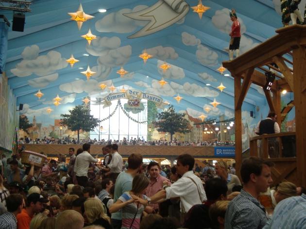 Oktoberfest best tent, inside preview Hacker