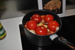 Vegetable soup - en étapes