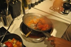 Vegetable soup en étapes, le moulin à légumes