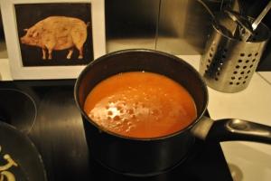 Vegetable soup en étapes, le produit fini