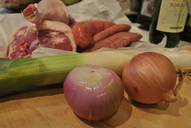 Ingredients for a cassoulet