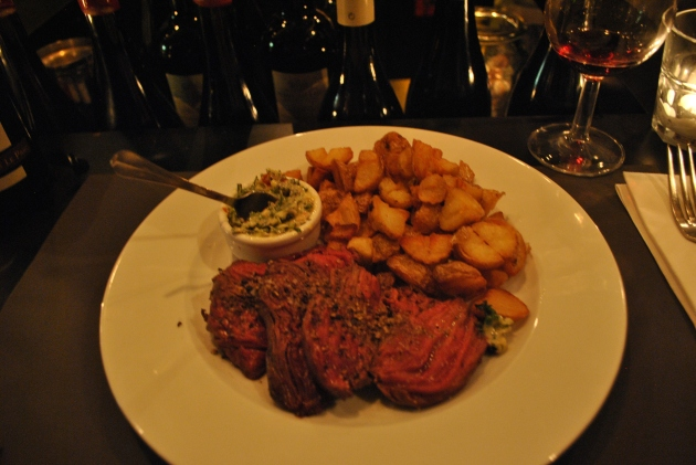 Onglet grillé, La Laiterie Saint Clothilde, Paris
