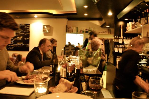 La Laiterie Saint Clothilde, Paris, at the bar