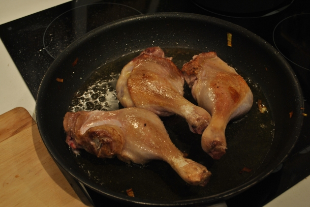 Duck thigh preparation, the cheater's way