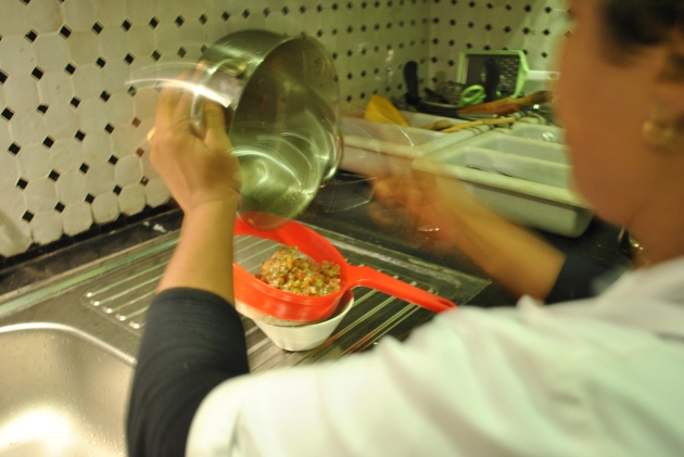 Moroccan cooking class, tomato salad