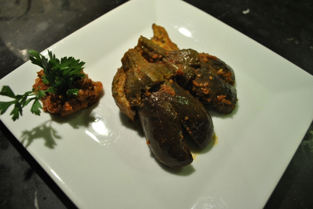 Eggplant salad entrée