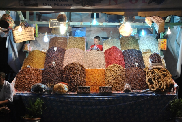 Djemaa El-Fna Marrakech, street vendor