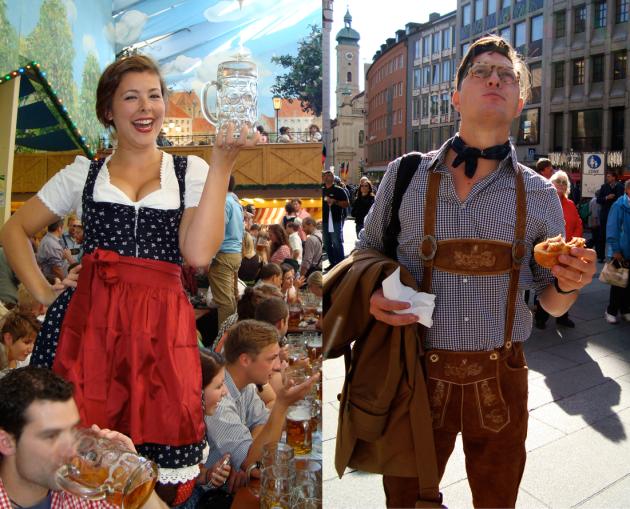 Oktoberfest outfits, Dirndl and Lederhosen